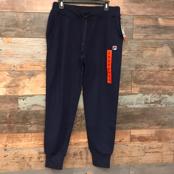 New Fila Womens French Terry Jogger Sweatpants Choose Size S M L Pink